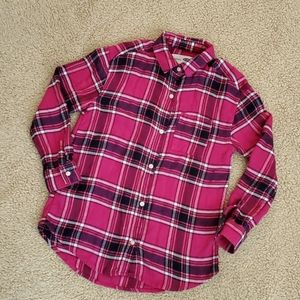 Old Navy Size 8 Girls Flannel Shirt Pink